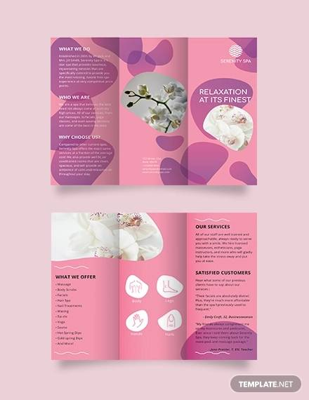 spa trifold brochure template6