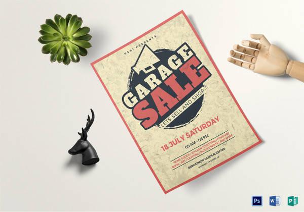 vintage garage sale flyer template