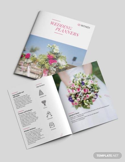 wedding planners bi fold brochure template1
