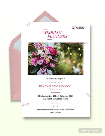 wedding planners invitation template
