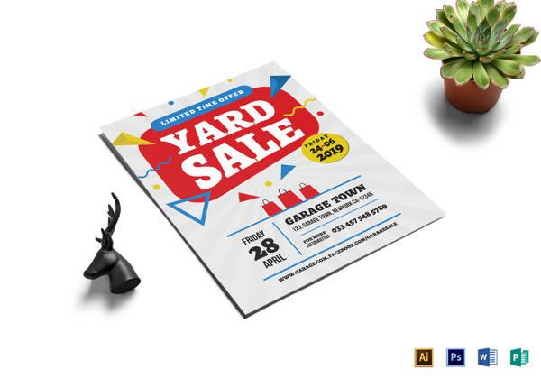 yard sale premium flyer template