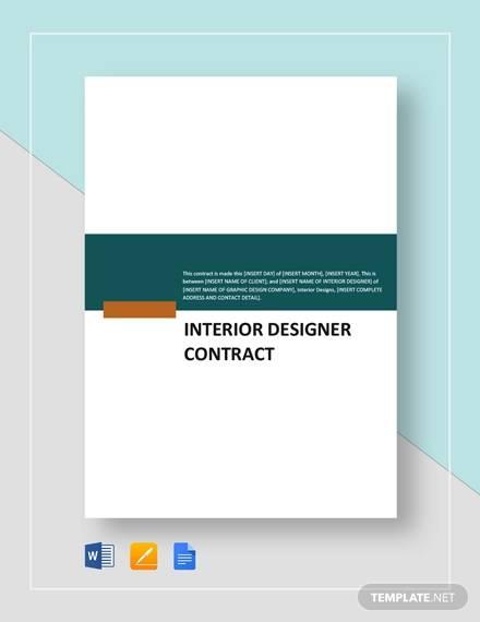 interior designer contract