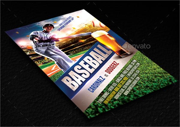 premium baseball flyer