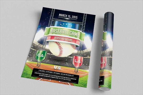 baseball flyer psd format