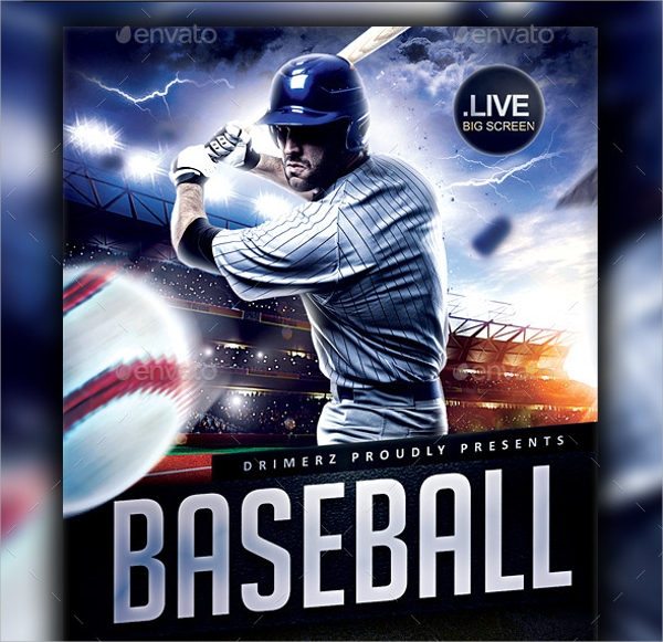 Baseball Flyer 25 Download In Vector Eps Psd