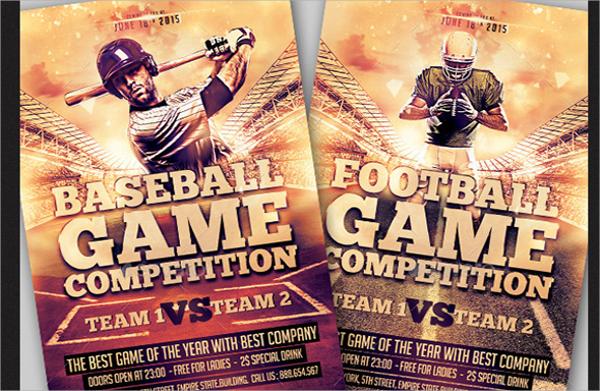 psd file format baseball flyer