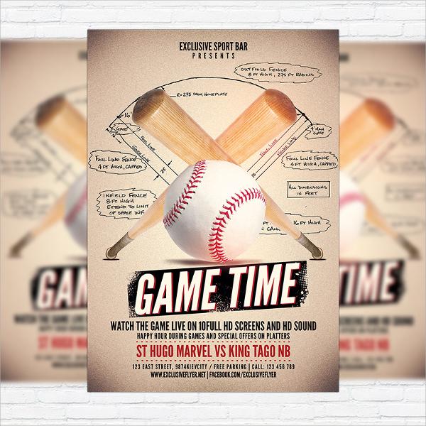 example of baseball flyer