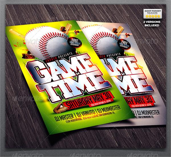 baseball game flyer template1