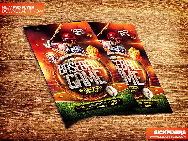 baseball flyer sample