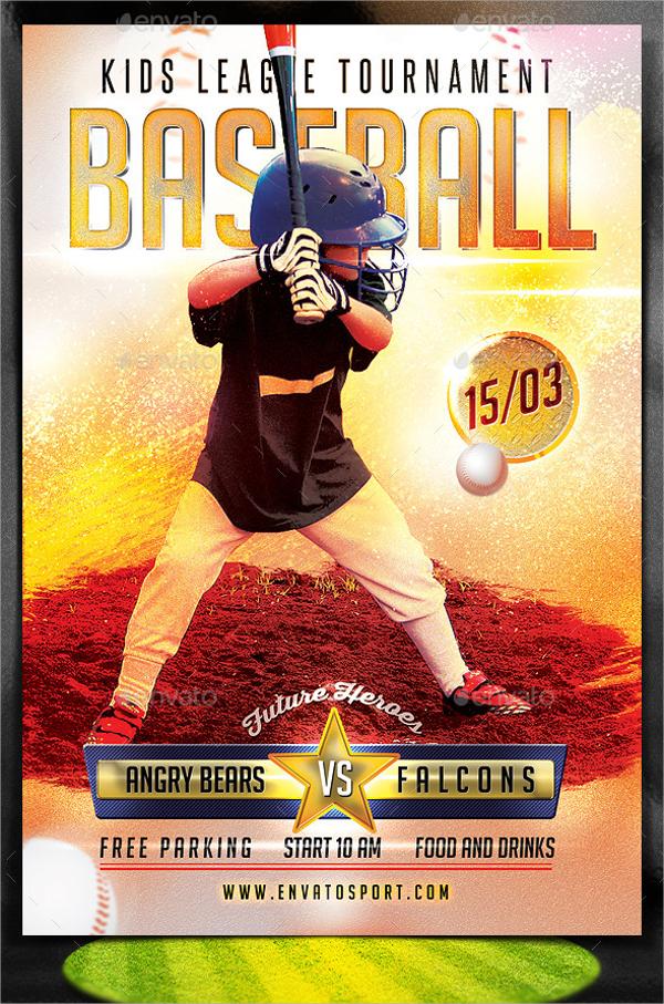 25  baseball flyers