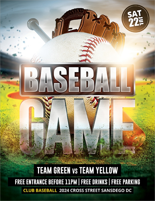 Baseball Flyer 20 Download In Vector EPS PSD – Baseball Flyer