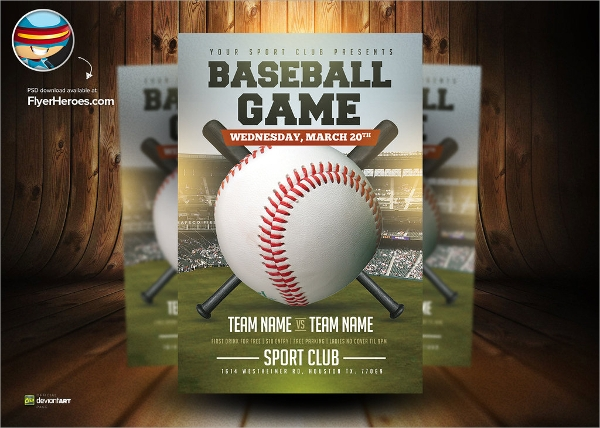 wonderful baseball flyer template