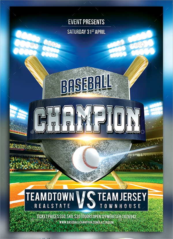 Baseball Flyer   Download In Vector Eps Psd