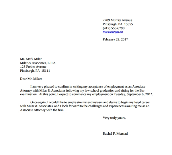 Sample Thank You Letter For Job Offer - 9+ Download Free Documents