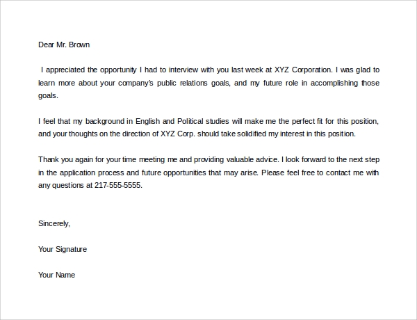 Sample Thank You Letter for Job Offer 9 Download Free Documents – Thank You Letters for Job Offer