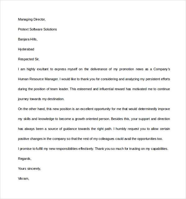 Sample Thank You Letter Example - 9+ Download Free Documents In