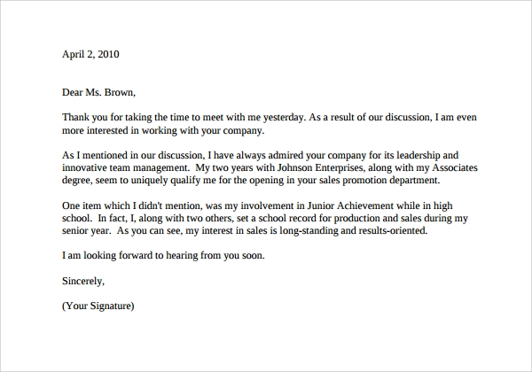 Thank You Letter Example 9 Download Free Documents In