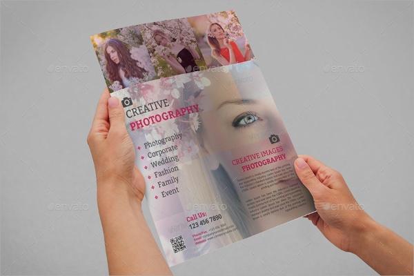photography flyer vector eps format download