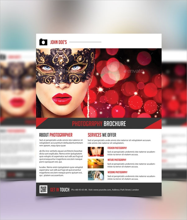 photography flyer psd format download