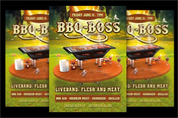 editable bbq flyer