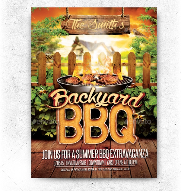 awesome bbq flyer
