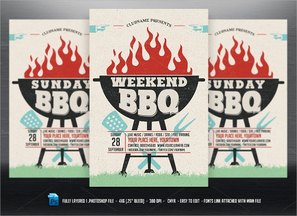 holiday bbq flyer