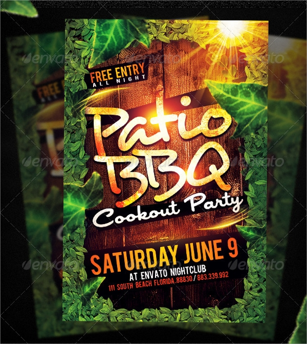 photoshop psd bbq party flyer