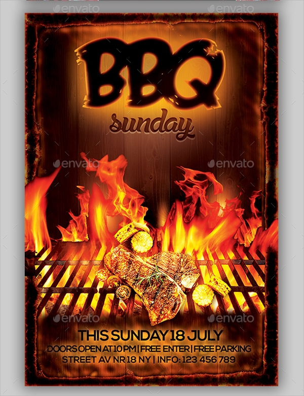 Bbq Flyer 20 Download In Vector Eps Psd