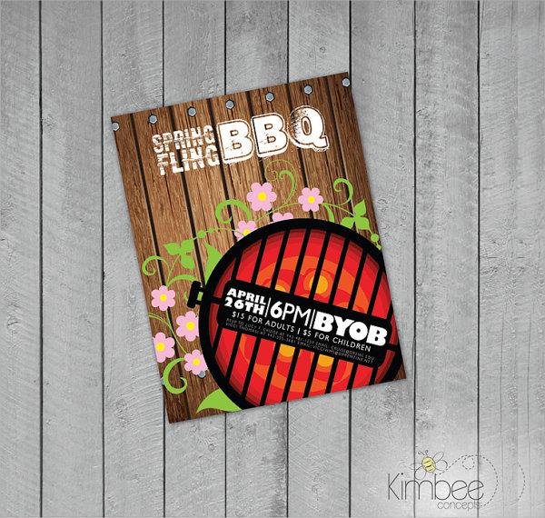 premium bbq flyer