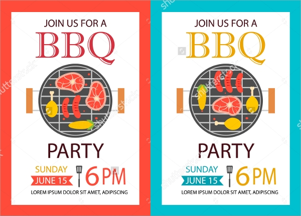 bbq party invition flyer