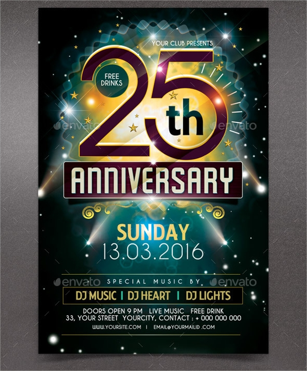 amazing anniversary party flyer