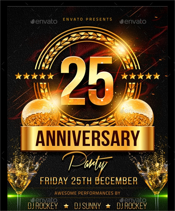 Anniversary Flyer   Download In Vector Eps Psd