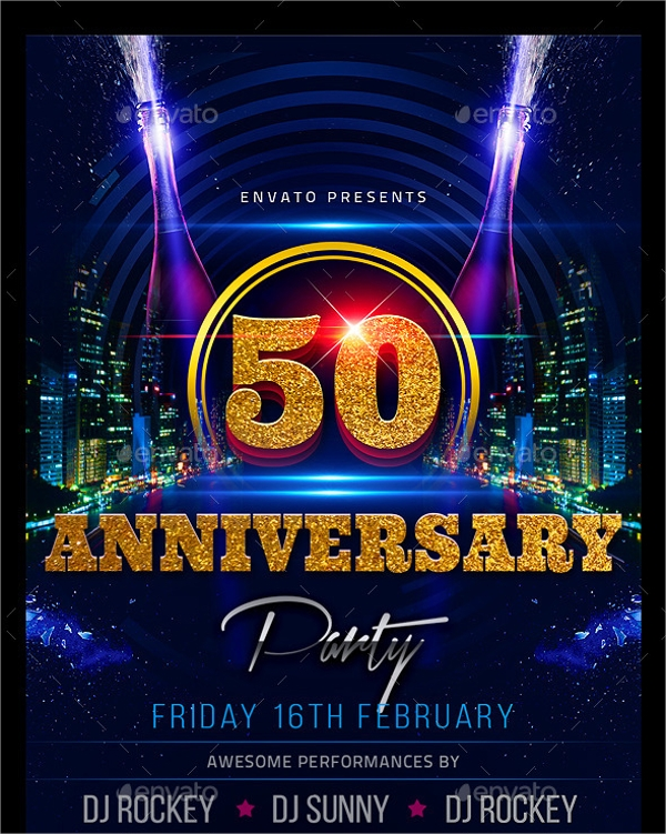 beautiful anniversary party flyer