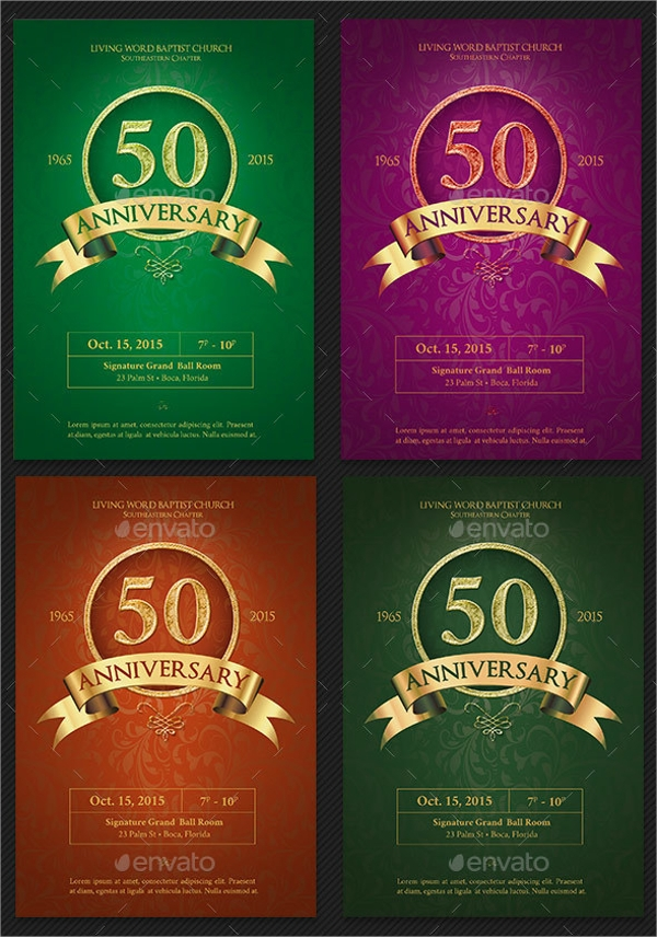 collection of anniversary flyer