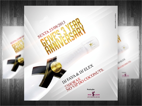 premium anniversary party flyer