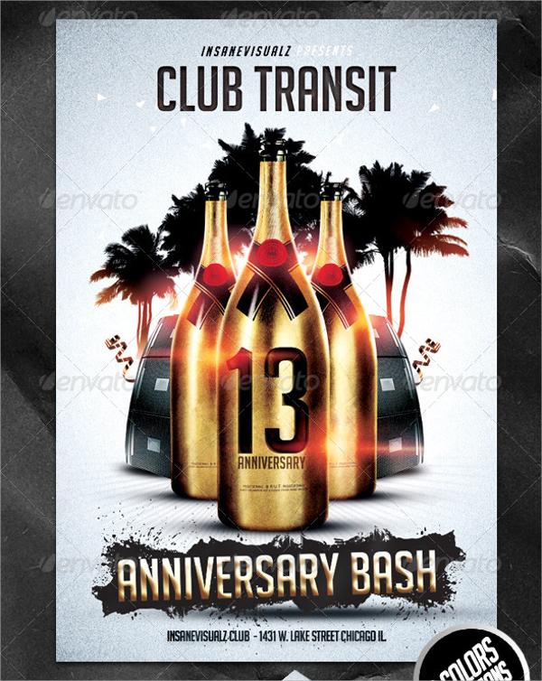 club anniversary flyer