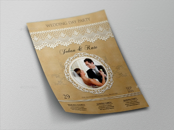 best wedding flyer template download