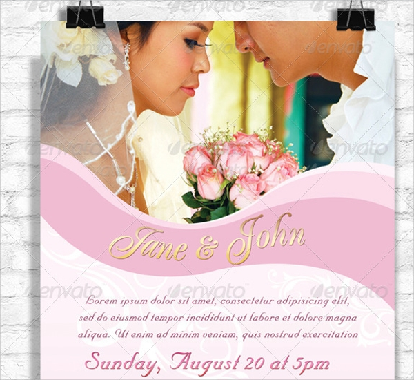 attractive wedding flyer template download