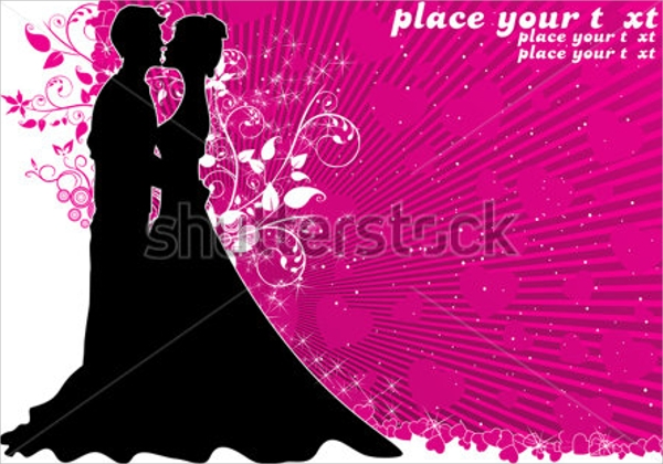 dazzling wedding flyer template download