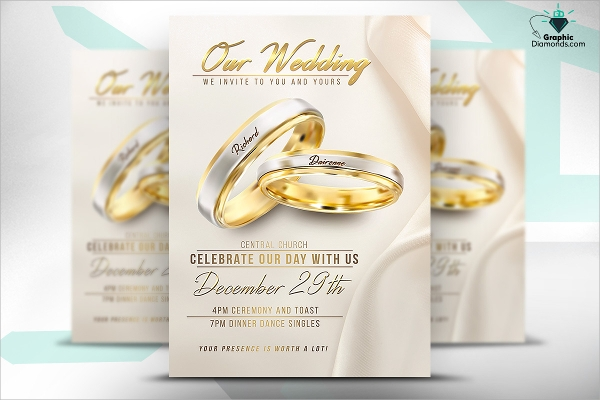gorgeous wedding flyer psd template