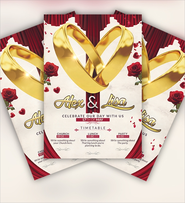 wondrous wedding flyer template download