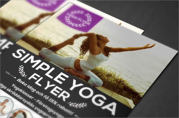 gorgeous yoga flyer template download