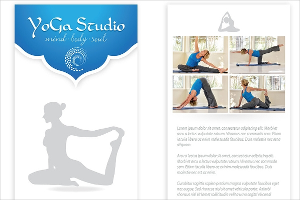 fantastic yoga flyer template download