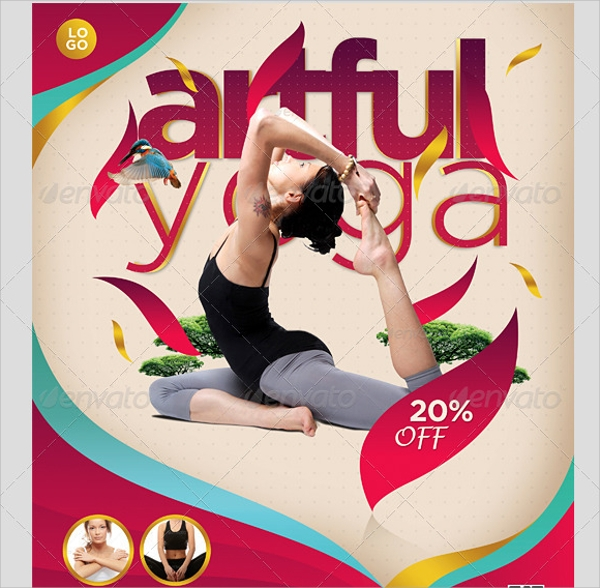 simple yoga flyers jpg image format download