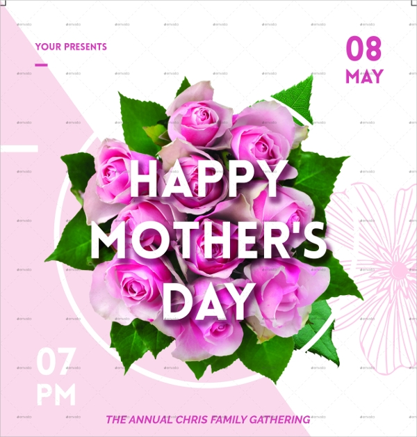 Mothers Day Card Template Photoshop