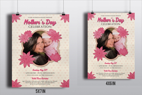 psd format mothers day flyer