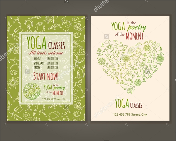30 Yoga Flyer Templates  Vector