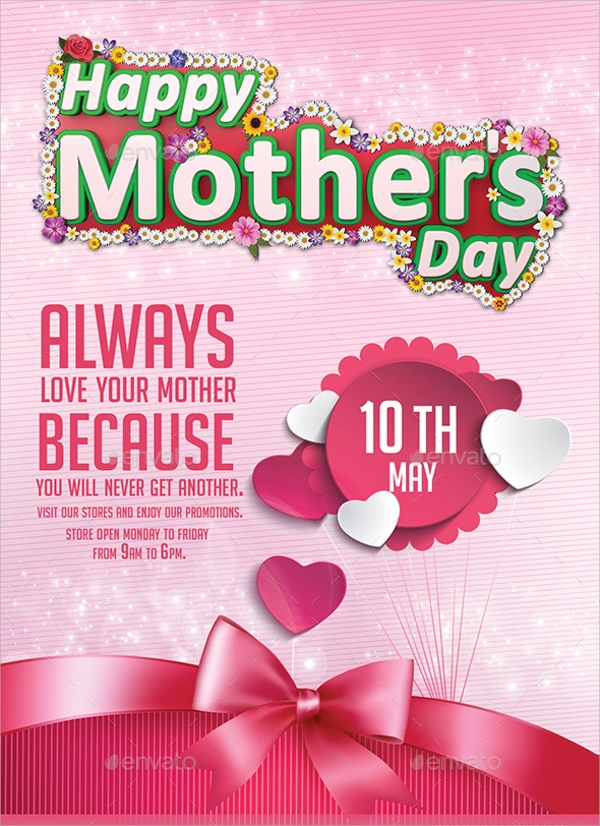 photoshop psd mothers day flyer