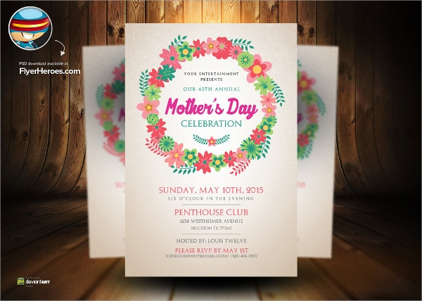 wonderful mothers day flyer