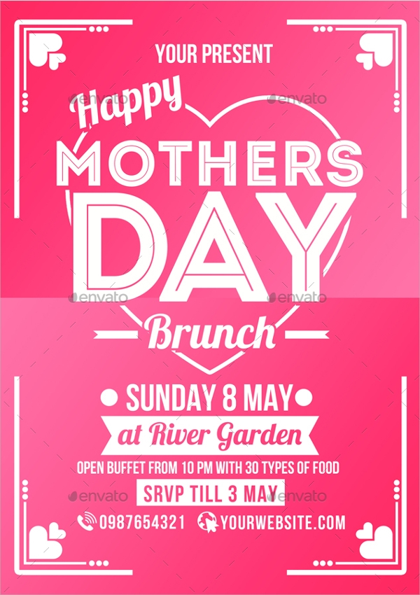 colorful mothers day flyer3